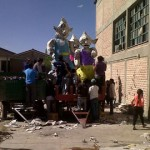 Desfile de carrozas: la demora valió la pena