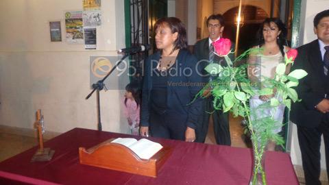 Juramento de la concejal  Gerónimo