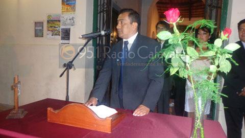 Juramewnto del concejal JoséGonzález