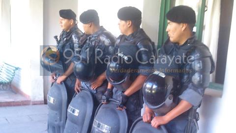 Hubo un fuerte operativo policial durante la reunión