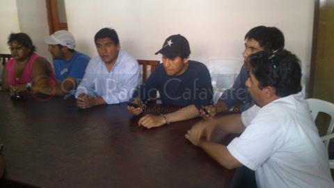 """El Concejal Daniel """"Toto"""" Pérez durante la reunión"""