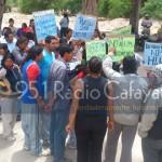 El acta compromiso que rechazan los manifestantes