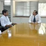 Almeda se reunió con funcionarios provinciales