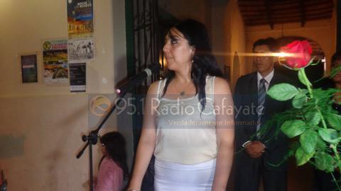 Rita Guevara en el acto de asunción.