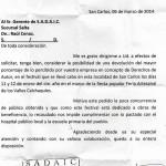 Intendente le pide a SADAIC que le devuelva dinero