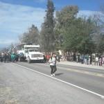 Emotivo recibimiento en La Viña a los peregrinos del Valle Calchaquí