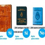 Se podrá votar con el viejo DNI y con la nueva tarjeta