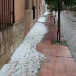 Fuerte granizo, lluvia y viento en Cafayate