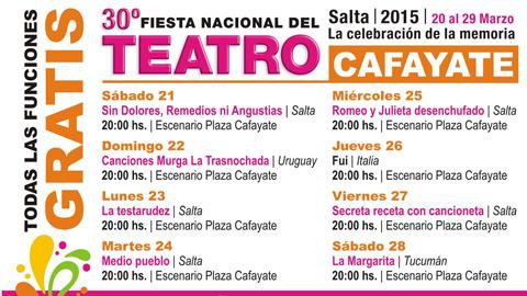 La Fiesta Nacional del Teatro en Cafayate