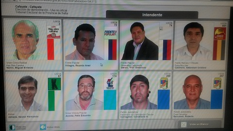 Así serán las pantallas del voto electrónico en Cafayate