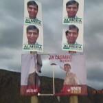 El sector de Casimiro denunció vandalismo con sus carteles