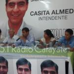 Almeda lanzó su candidatura en medio del conflicto de El Divisadero