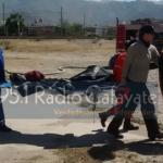 Heroico rescate de un enfermo desde los cerros de Santa Barbara