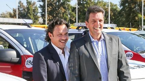 Gustavo Sáenz y Sergio Massa