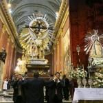 Entronizaron las imágenes del Señor y la Virgen del Milagro