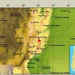 Tres fuertes sísmos este lunes en diferentes zonas de Salta