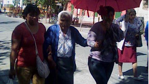 Una peregrina de 88 años