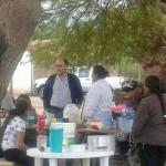 El Obispo Jiménez acompañó a las familias del asentamiento en San Carlos