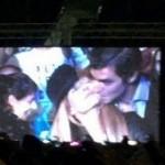Urtubey y Macedo a los besos en el recital de Ricky Martin