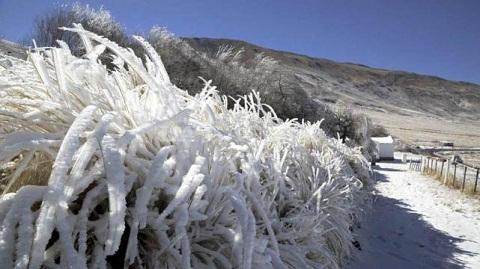 Tafí del Valle amaneció con sus cerros cubiertos de nieve