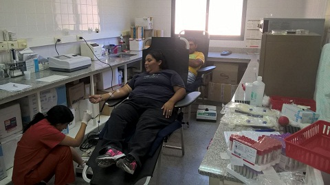 Exitosa campaña de donación de sangre