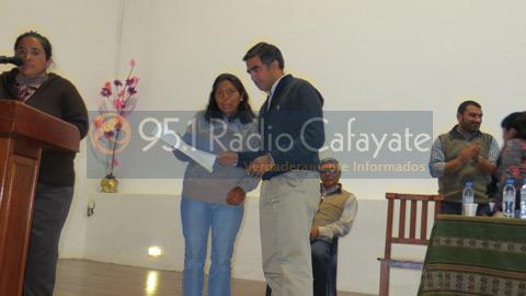 El Diputado nacional Miguel Nanni durante la entrega de becas el año pasado