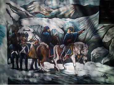 Un mural para recordar la figura del General San Martín