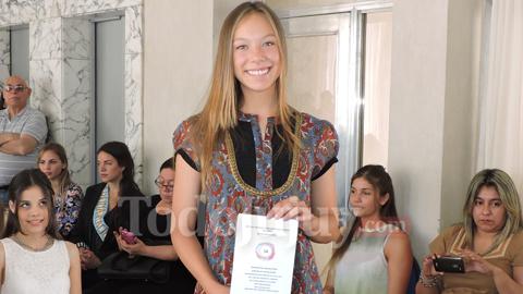 María Alauie participó del sorteo para el desfile de candidatas