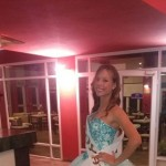 María Alauie participó de la Cena de Gala de las candidatas a Reina de los Estudiantes