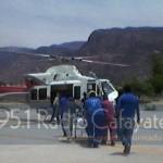 Trasladaron en helicóptero a Salta en grave estado al motociclista atropellado