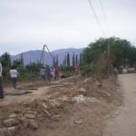 Comenzó el ensanche de la calle principal de La Banda de Abajo