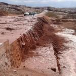 Una fuerte lluvia con granizo cortó la Ruta 68
