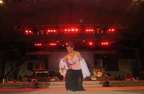 Paula Polo en el escenario Payo Solá durante su presentación