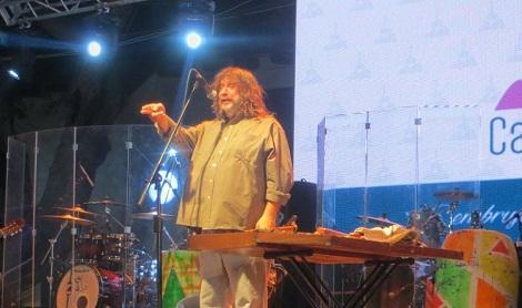 Daniel D'amico durante su actuación en la Serenata a Cafayate