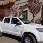 Almeda quitó el ploteo de una camioneta destinada a discapacitados y la asignó para su uso personal