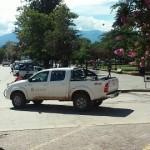 Almeda restituyó solo el logo de la Municipalidad a la camioneta donada para discapacitados