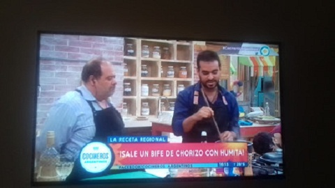 Mauricio Tiberi en Cocineros Argentinos