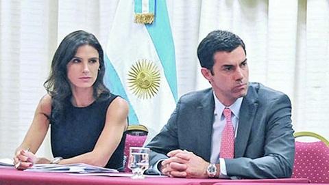Pamela Calletti y Juan Manuel Urtubey