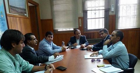 Miguel Nanni y Sergio Saldaño durante la reunión con directivos de Vialidad Nacional