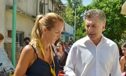 Marina Klemensiewicz subsecretaria de Hábitat y Desarrollo Humano del gobierno nacional y el Presidente Macri