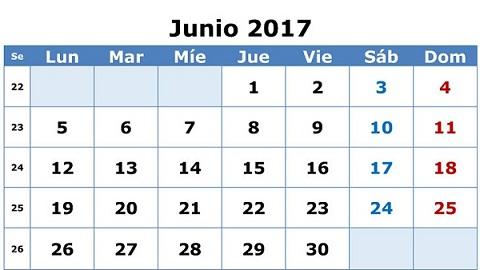 0 calendario feriados 2017