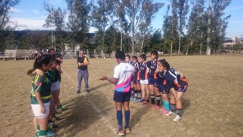 El equipo femenino de Cafayate Rugby durante el torneo