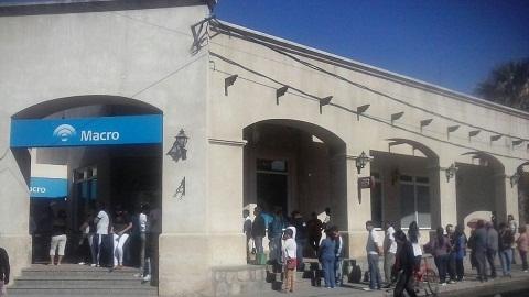 El Banco Macro dejará a Cafayate cinco días sin cajeros