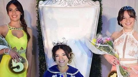 Tamara junto a las princesas.  Foto:Gentileza Nicolás Cenardo