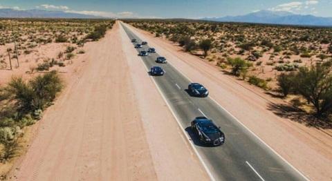 El Bugatti Grand Tour pasó por Cafayate