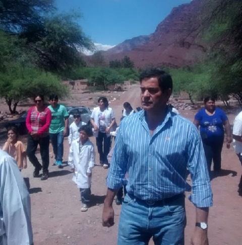 El Intendente de Guachipas Néstor Parra participó de la fiesta patronal y recorrió las obras en Santa Bárbara