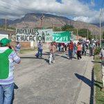 Nuevo paro y movilización de ordenanzas de escuelas del Valle Calchaquí