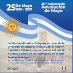 El acto del 25 de Mayo se transmitirá por redes sociales en Cafayate