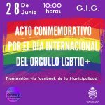 Se realizó el acto conmemorativo del Día del Orgullo LGBTIQ+ este lunes