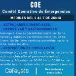 El COE autorizó extender los horarios para el fin de semana en Cafayate